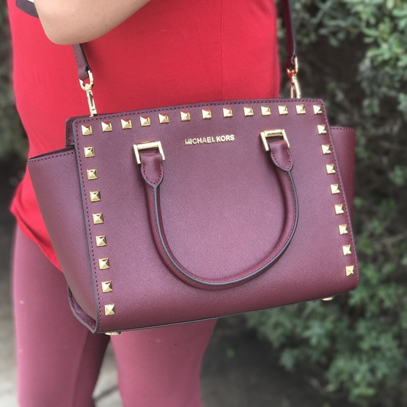 d380ffe8c471 Michael Kors Bags | Md Selma Stud Leather Satchel | Poshmark